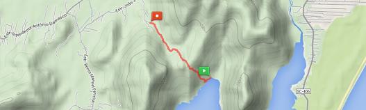 Imagem do mapeamento da trilha, que tem 2,4 km de extensão, feita pelos acadêmicos