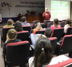 Encontros ocorreram no Auditório da Esag, em três períodos. Fotos: Gustavo Vaz/Ascom